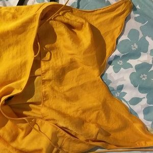 Topshop Dresses - Gold short dress